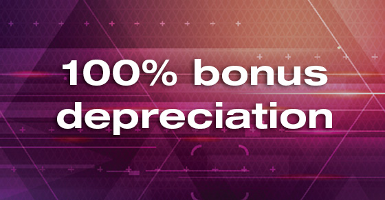 Bonus depreciation temporarily expanded as part of the TCJA